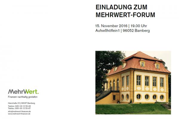 MehrWert - Forum in Bamberg zusammen mit TESLA!